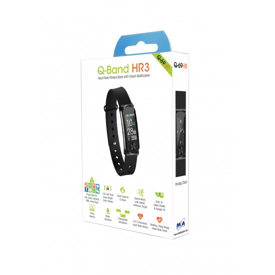 Q-Band Q-69HR Fitnesstracker Remote Care - SOS - works with Strava