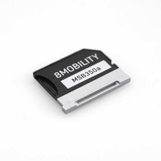 8mobility iSlice Surface Book Compatible MicroSD Card Adapter Silver