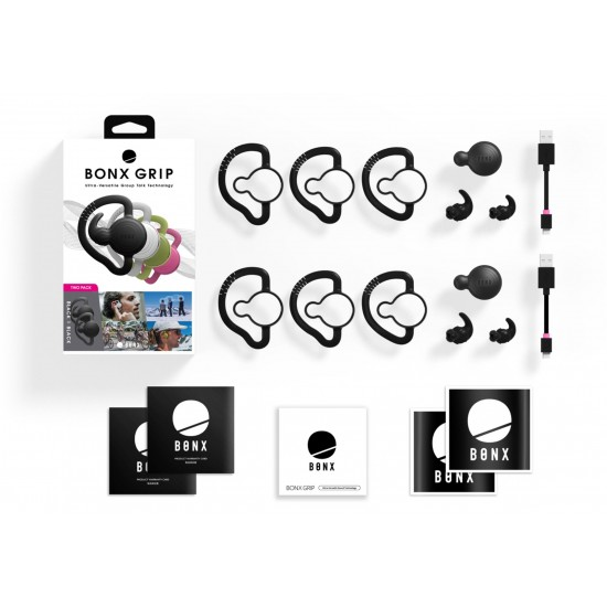 BONX Grip Outdoor Sports Group-Talk Bluetooth Earpiece - Two Pack