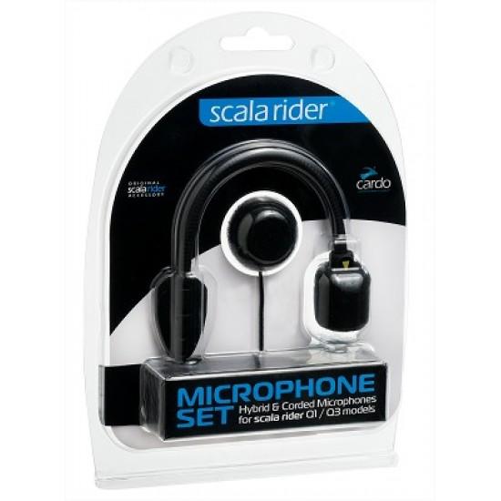 Cardo scala rider Microphone Set (Hybrid and Corded) for scala rider Qz / Q1 / Q3