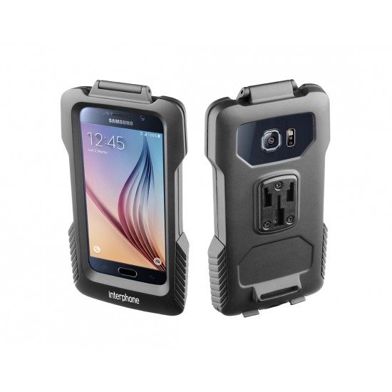 Interphone SMGALAXYS6 and S6 EDGE Pro Case Galaxy S6/S7 holder for tubular Motorcycle Handlebars