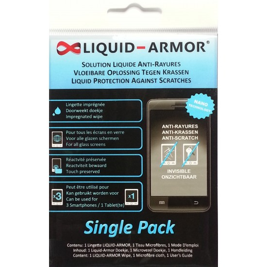 Liquid Armor Nano-coating Tech Screen Protector (Disposable Single / Duo Pack)