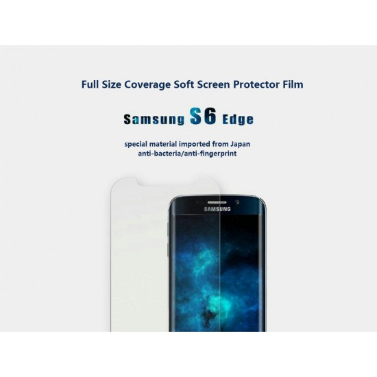 Pavoscreen Full size coverage Soft Screenprotector Film for Samsung Galaxy S6 Edge