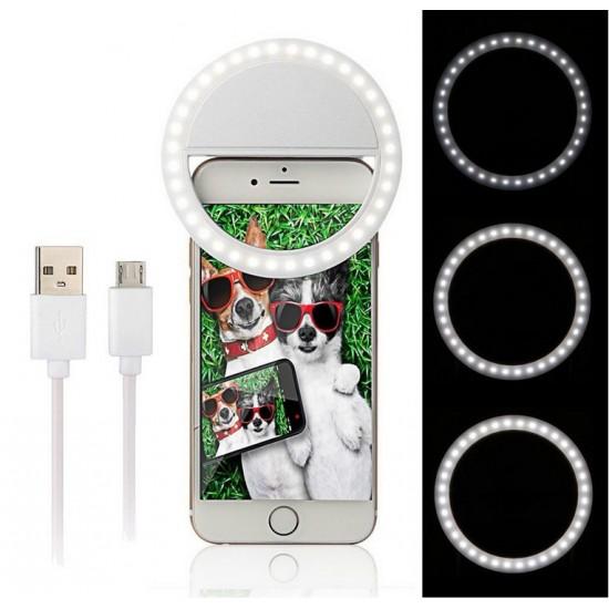 innoXplore Memo Style Selfie Ring Flash Light for Smartphone Frontcam