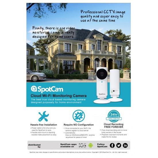 SpotCam HD Cloud Camera indoor